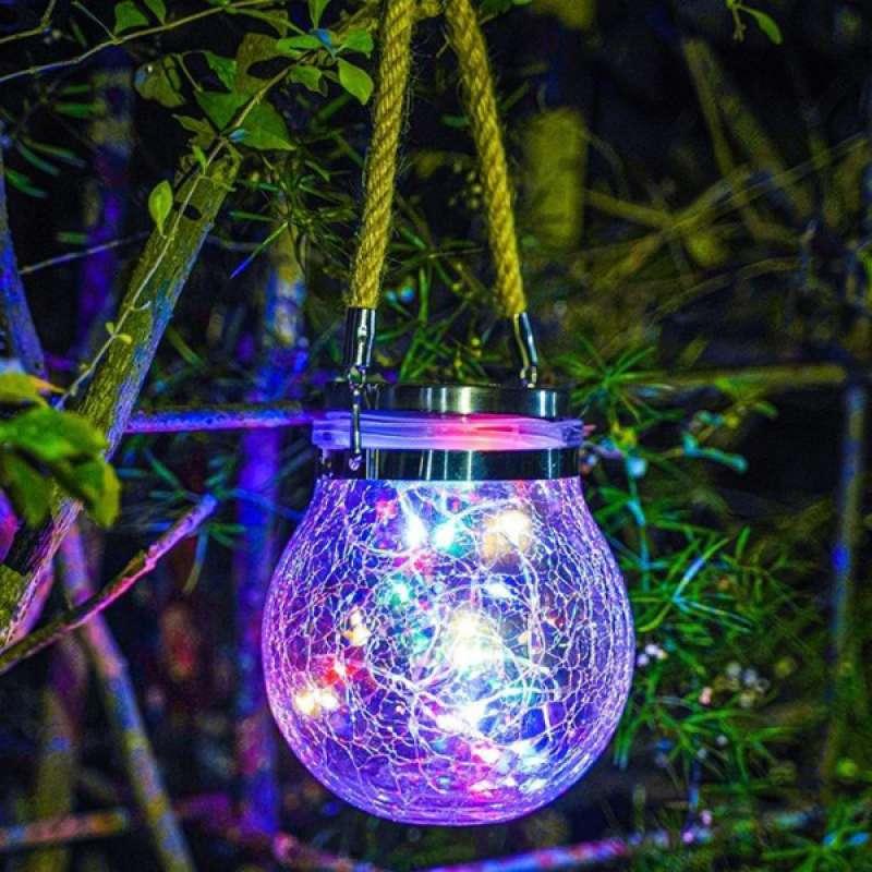 Jual Hanging Solar String Fairy Light Jar Lights Led Garden Decoration Waterproof Online Oktober 2020 Blibli Com
