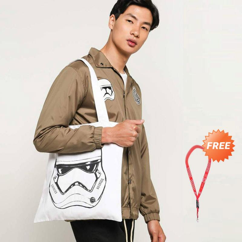 Monstore Star Wars Stormtrooper Tote Bag Pria + Society Lanyard Red