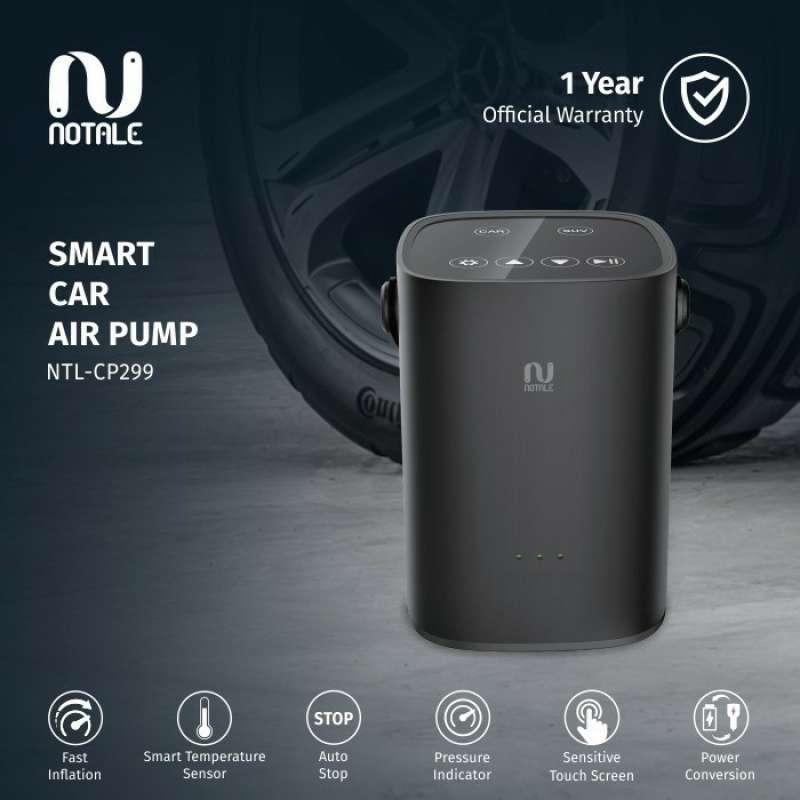 Notale Inflator Air Pump Pompa Angin Ban Mobil Motor Sepeda Elektrik - Touch Sensor