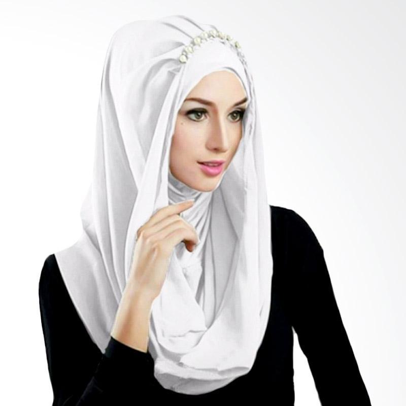 Kus Group Hijab Deeja Pearly Bergo - Putih