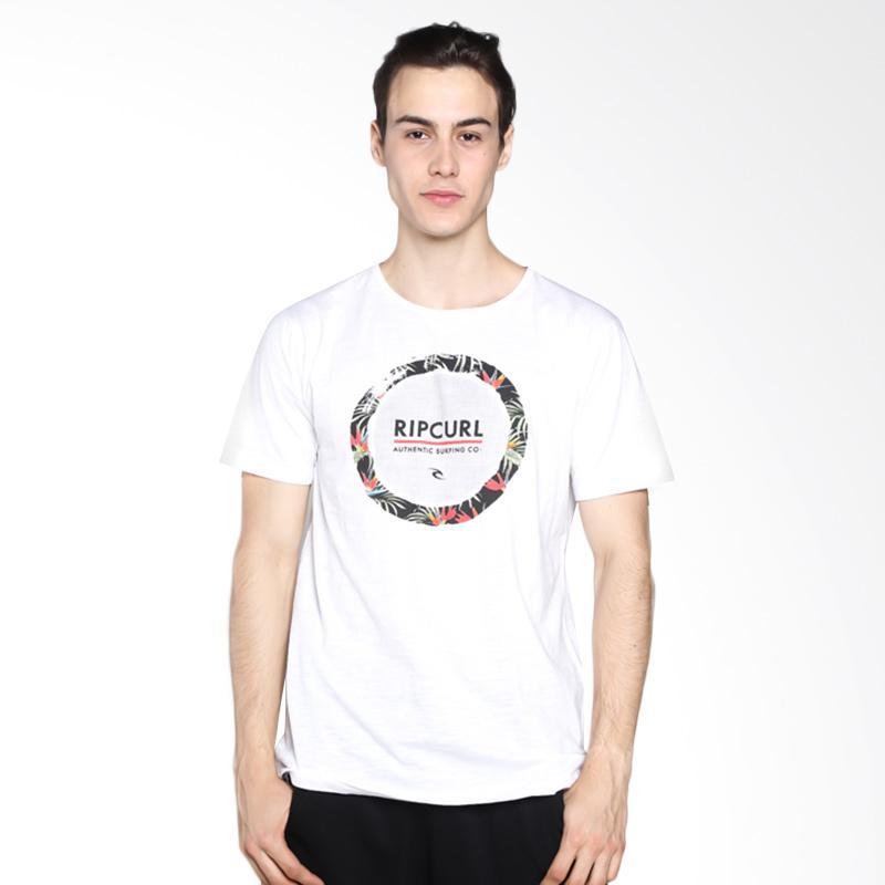 harga Ripcurl CTEXD1 1000 Circles Tee Kaos Pria - White Blibli.com