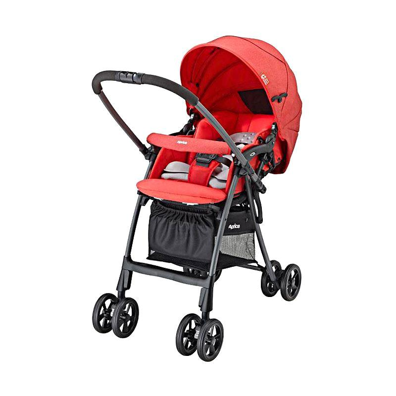 Aprica Luxuna Light CTS Kereta Dorong Bayi - Red