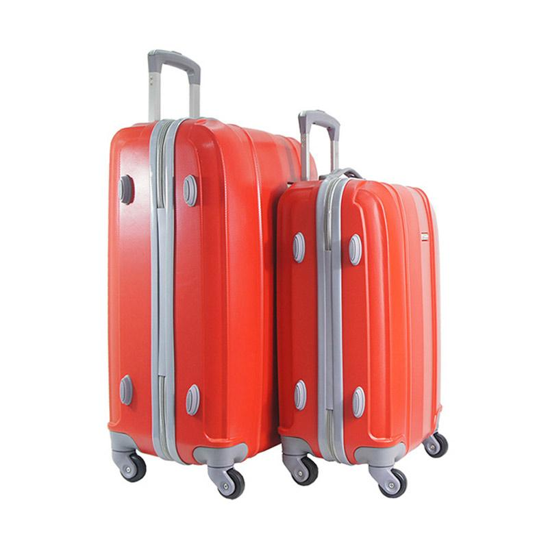 Polo Twin HD 1608 Troley Bag Set - Red [20 dan 24 Inch]