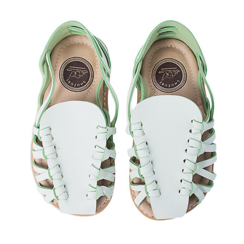 Shuzube BS-05 Crossed Stripe Sandals - Mint