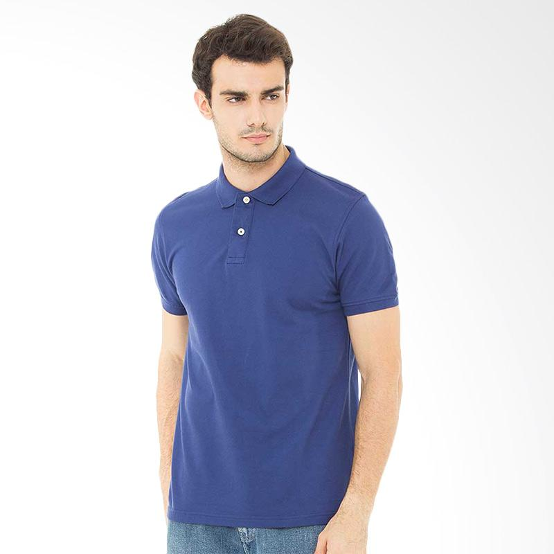 Svperbia T-Shirt The Essential Kaos Polo Pria - Blue