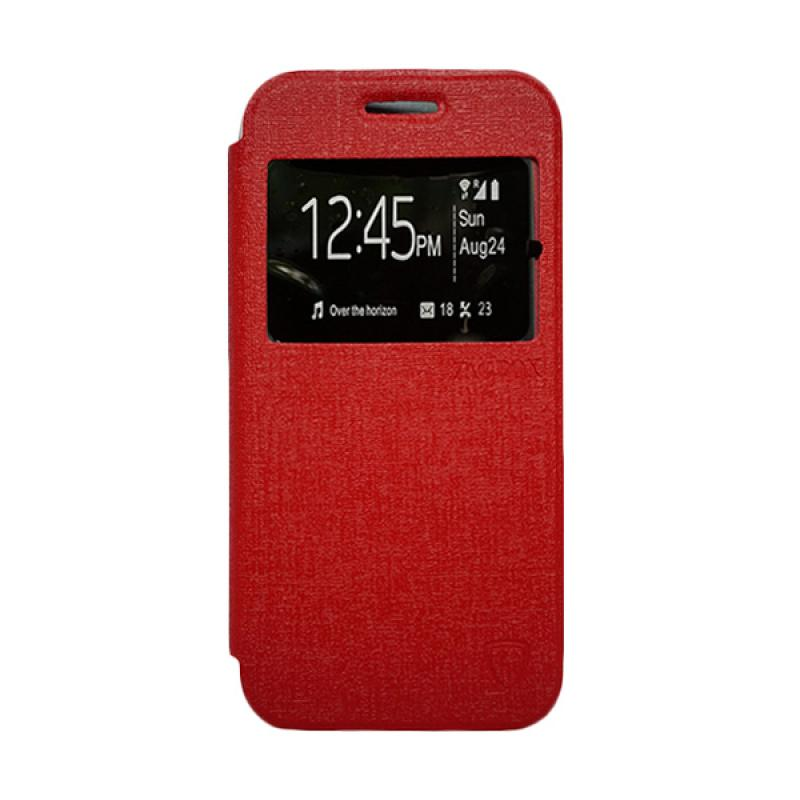ZAGBOX Flip Cover Casing for Samsung Galaxy V or Ace 4 - Merah