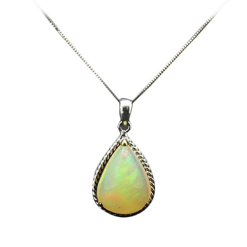 harga Batu Mas Kalimaya Opal Pendant - White Gold [14K/2.670 g] Blibli.com