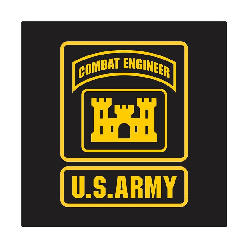 Kyle US Army Combat Engineer Cutting Sticker