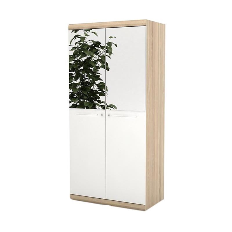 Prissilia Bourbon Wardrobe with Glass