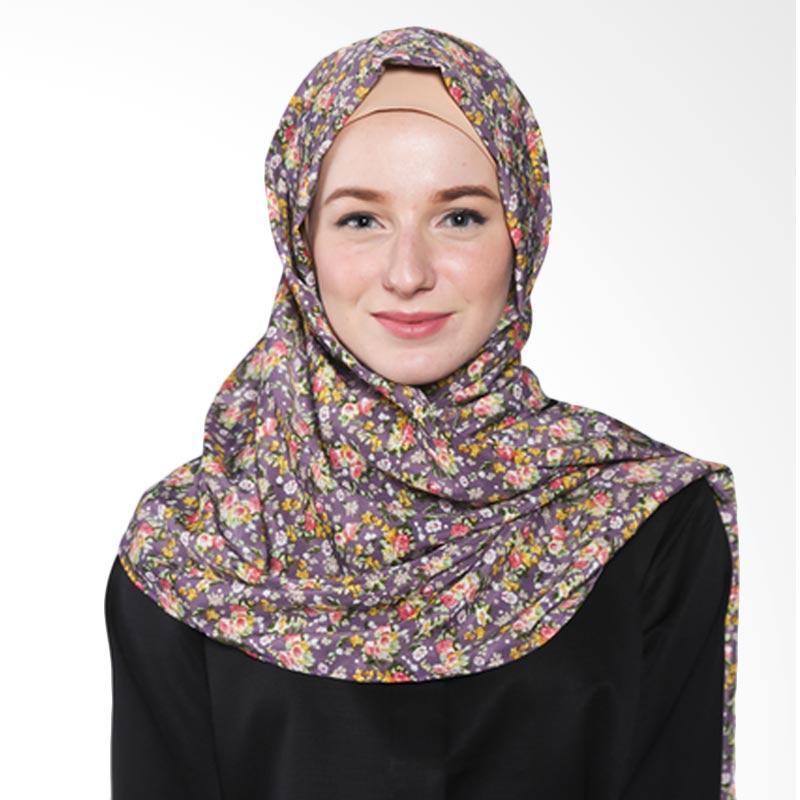 Rauza Rauza Blossom Shawl Hijab - Ungu