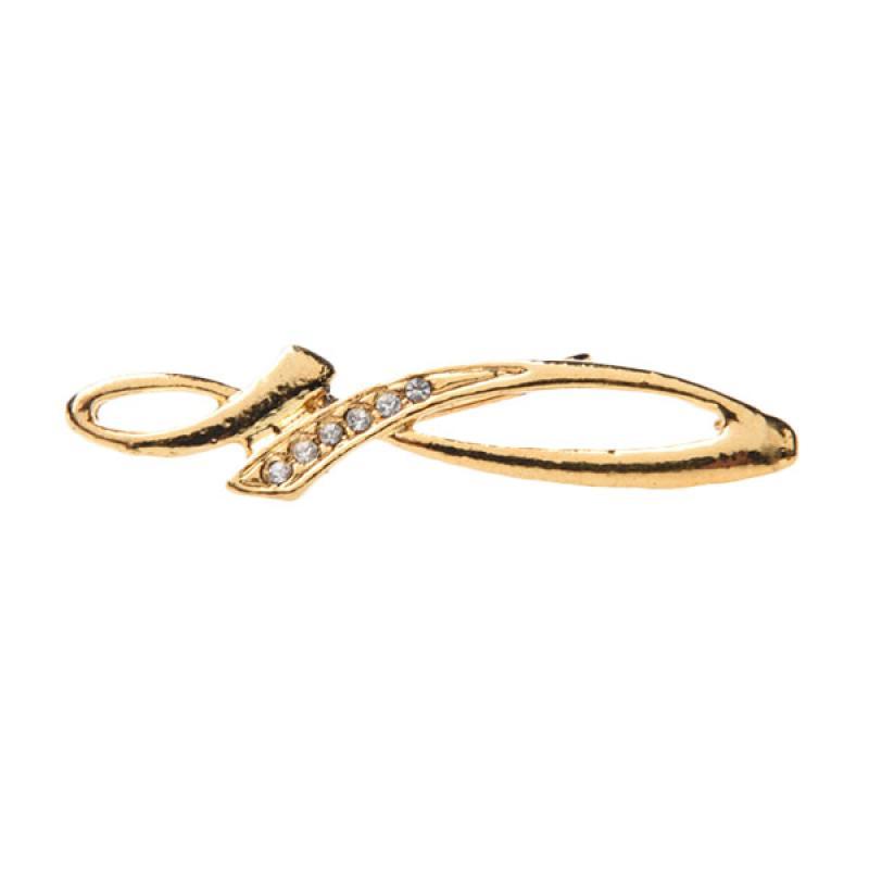 1901 Jewelry BR.2103.HR42 Three Bow Brooch - Gold
