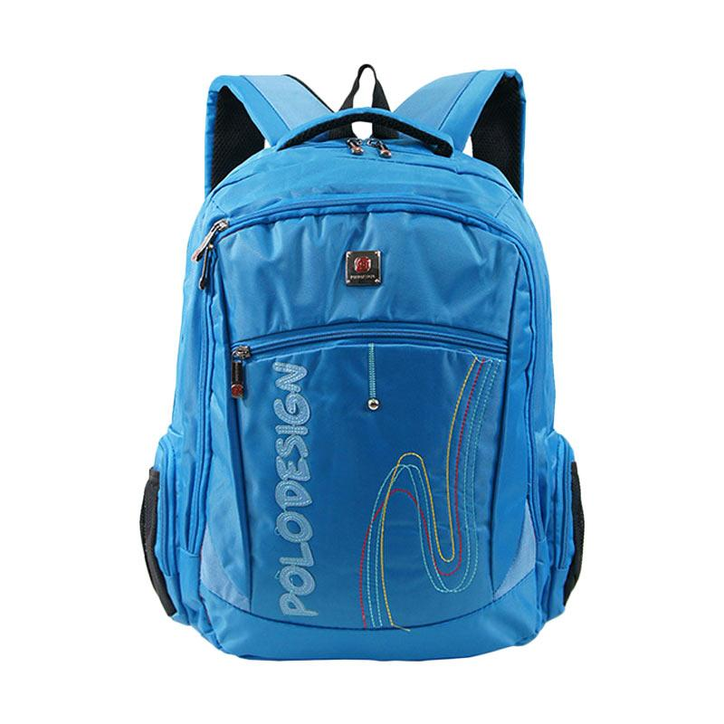 Polo Design PX1-21002 L Backpack with Rain Cover - Blue