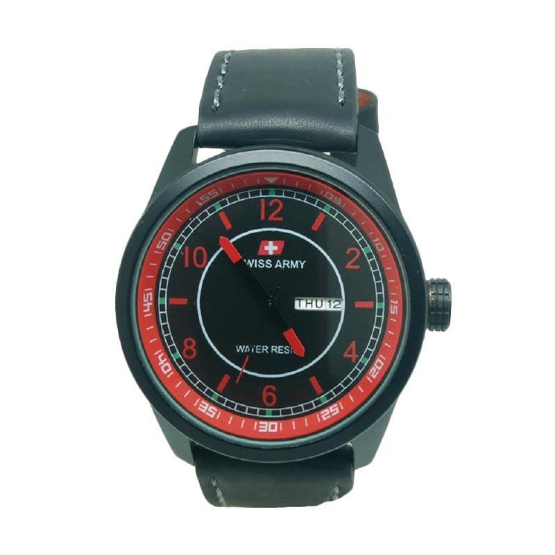 Swiss Army SA7415A Jam Tangan Pria - Black Red