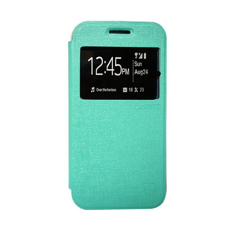 ZAGBOX Flip Cover Casing for Asus Zenfone 4 - Hijau Tosca