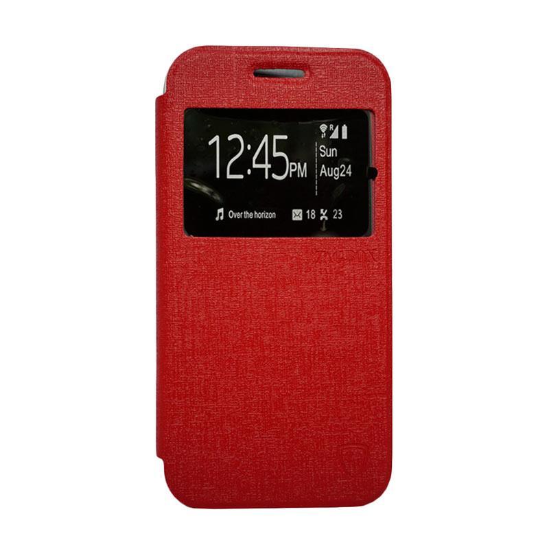 Zagbox Flip Cover Casing for Sony Xperia Z3 Mini - Merah