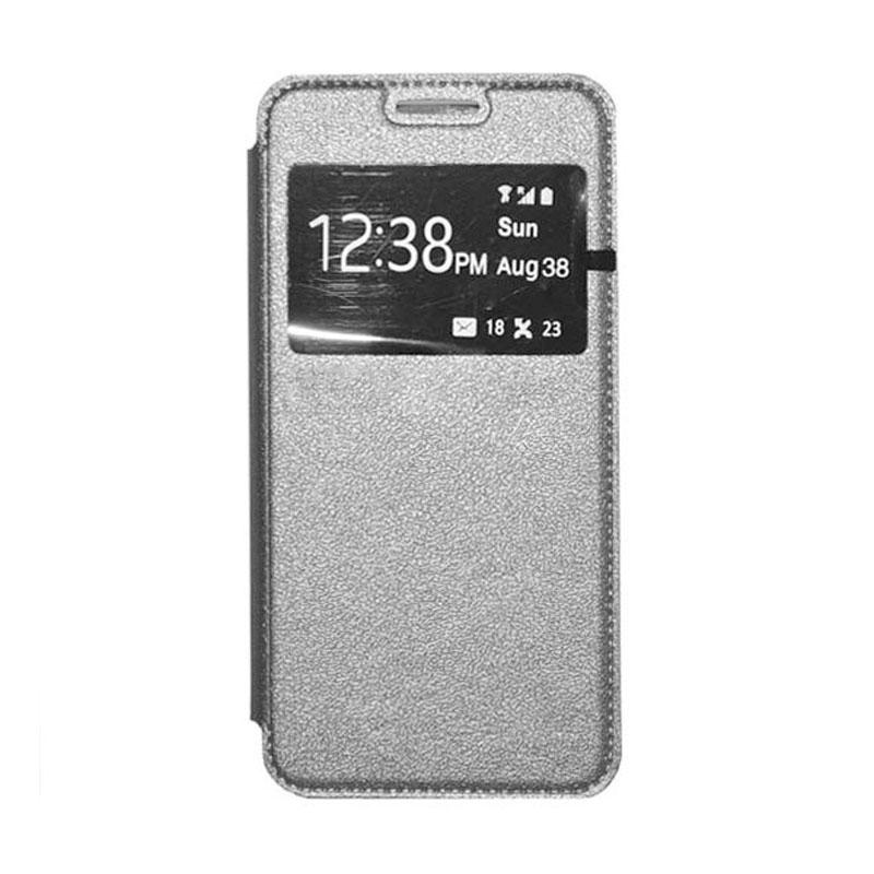 OEM Leather Book Cover Casing for Xiaomi Mi4i - Grey