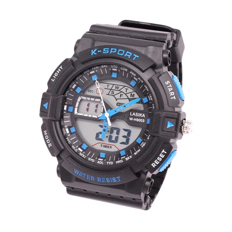 Lasika Digital Analog W-H 9003 Jam Tangan Unisex - Blue