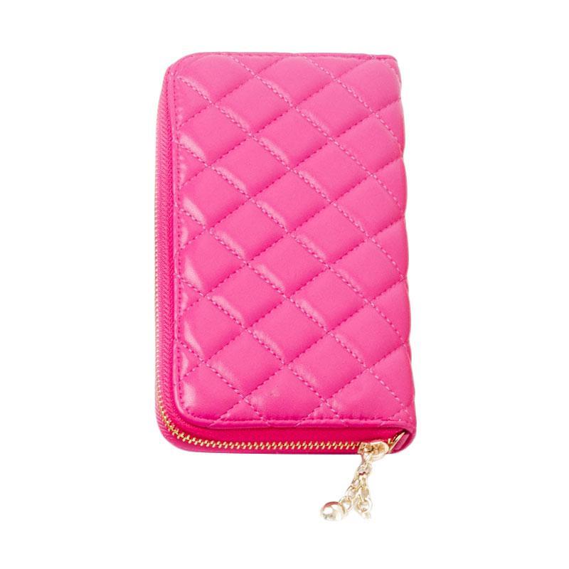 harga Paroparoshop Quilted Wallet - Pink Blibli.com