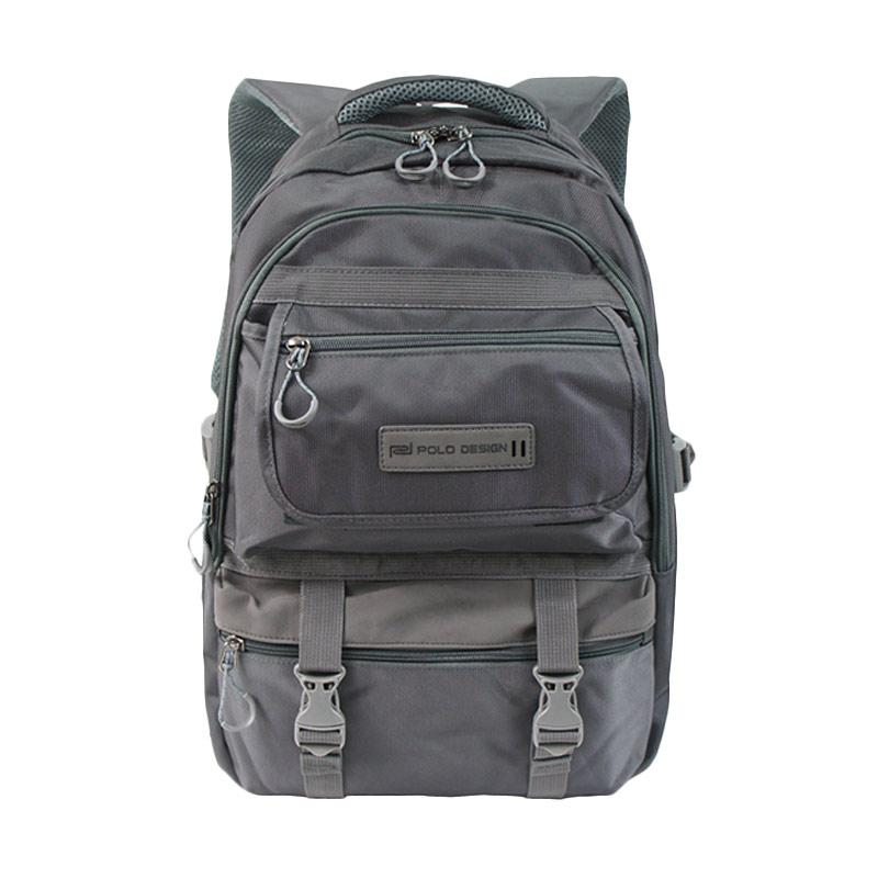 Polo Design QH 95001G Backpack with Rain Cover - Grey