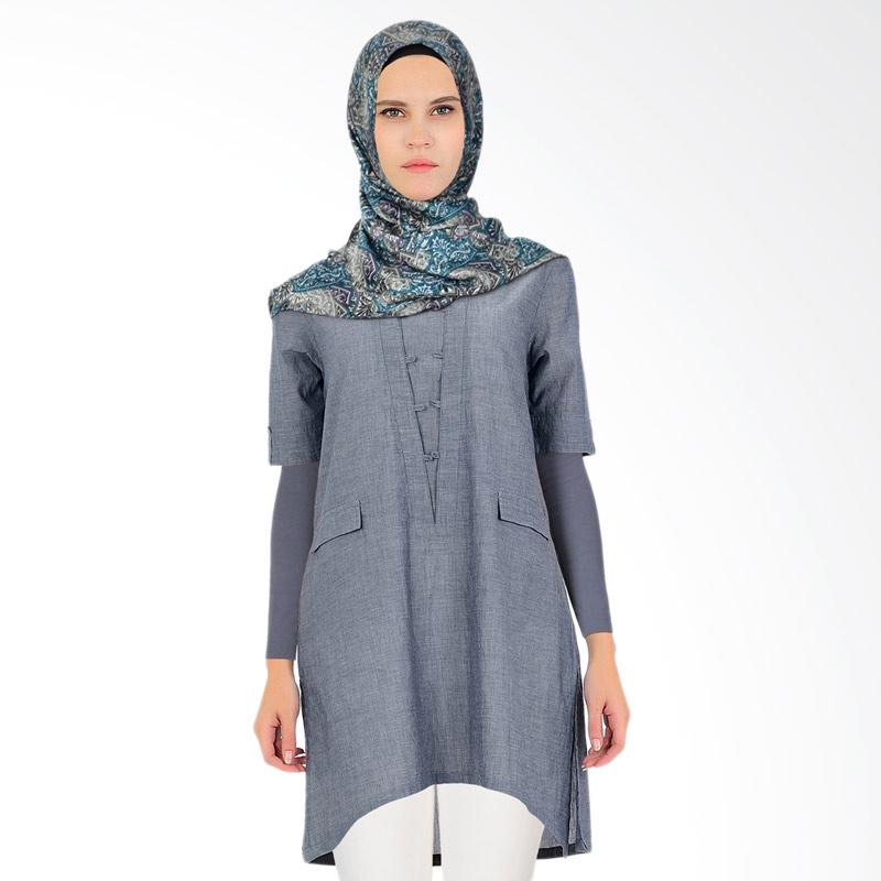Virginia Tunik Muslim Wanita - Grey