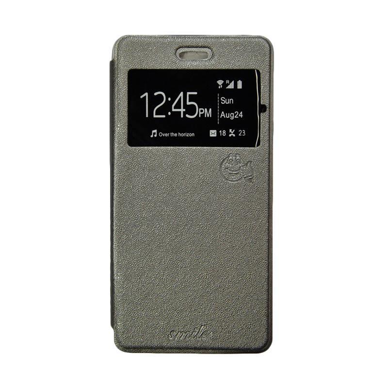 Smile Flip Cover Casing for Asus Zenfone Go ZB551KL 5.5 Inch - Abu-abu