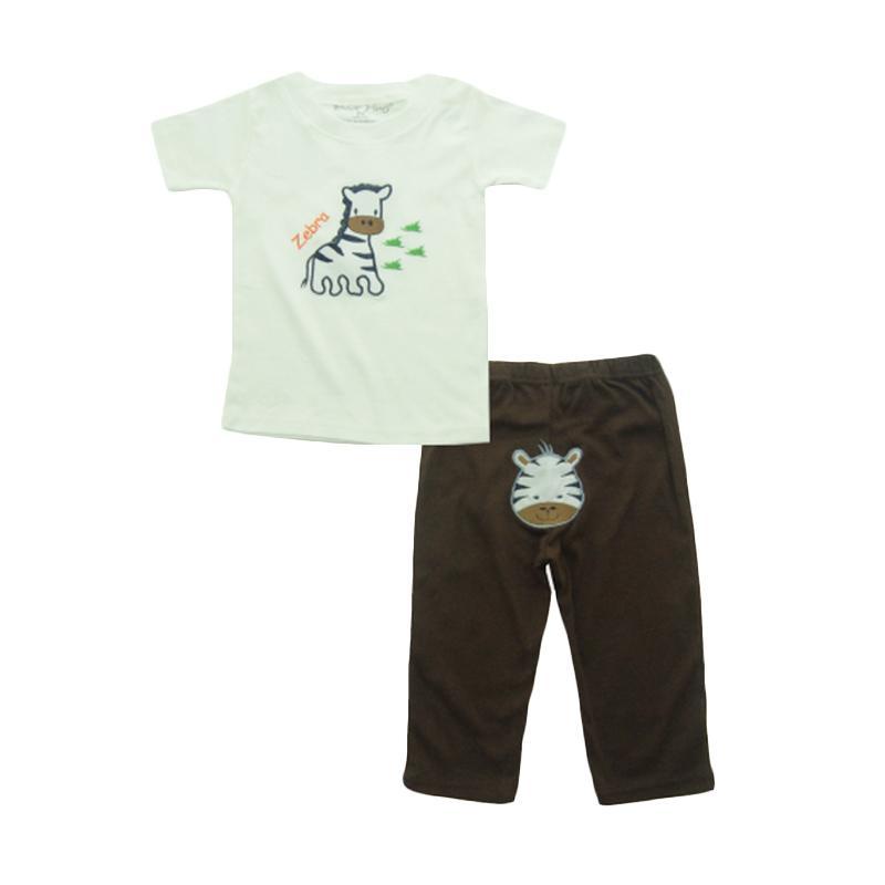 Bearhug Zebra Set Pakaian Anak Laki laki - Putih