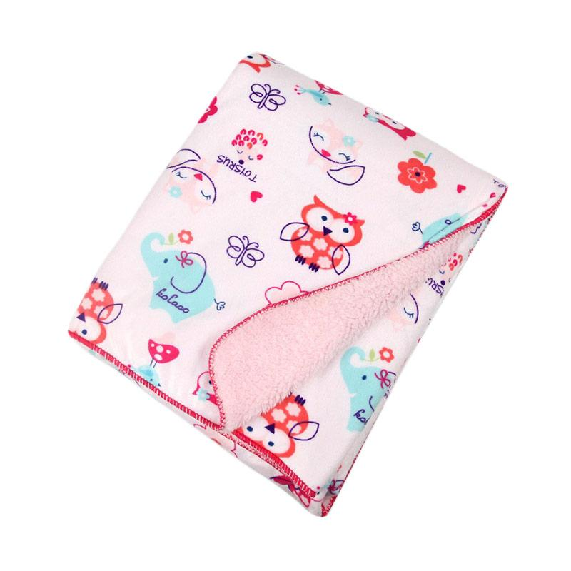 Chloebaby Shop Owl Selimut Bayi - Pink