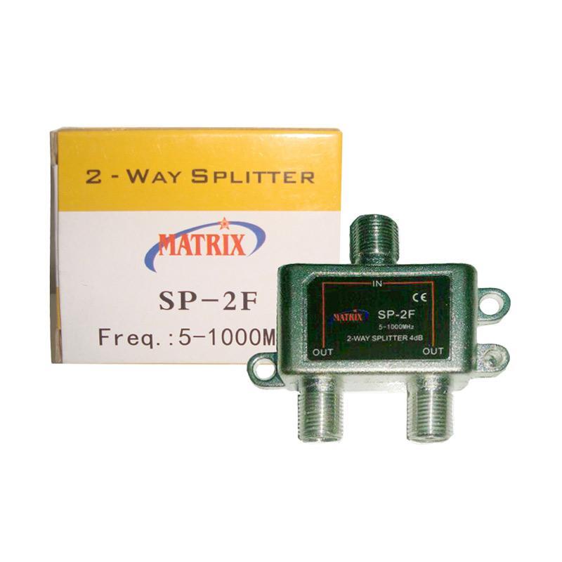 Matrix SP-2F 2 Way Splitter [Frekuensi 5-1000 MHz]