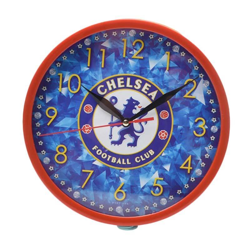 Miracle Club Bola Chelsea Ring Jam Dinding - Merah [20cm]