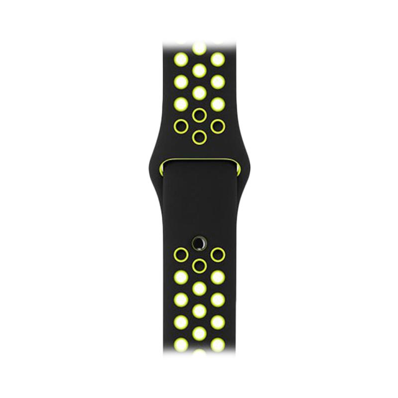 LOLLYPOP Strap Nike Sports Band for Apple Watch 38mm - Black Yellow