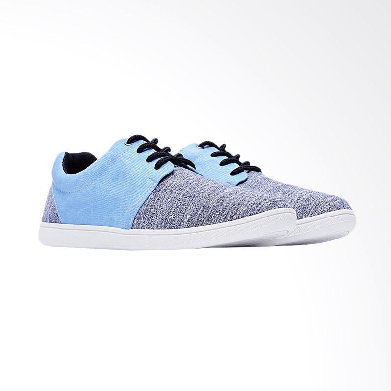 harga Life8 Casual Silver Fiber Shoes Sepatu Pria - Blue Blibli.com
