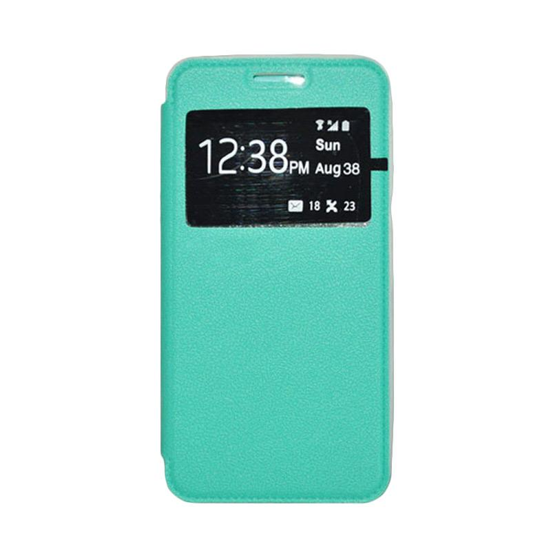 OEM Leather Book Cover Casing for Xiaomi Mi4i - Green