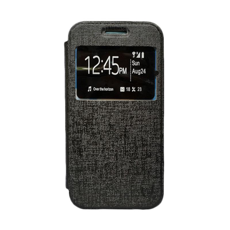 ZAGBOX Flip Cover Casing for Samsung Galaxy V or Ace 4 - Hitam