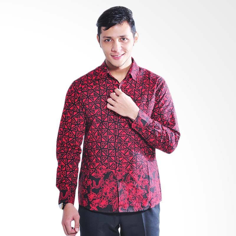 Canting Hijau Bhatara Kara Batik Shirt -  Red