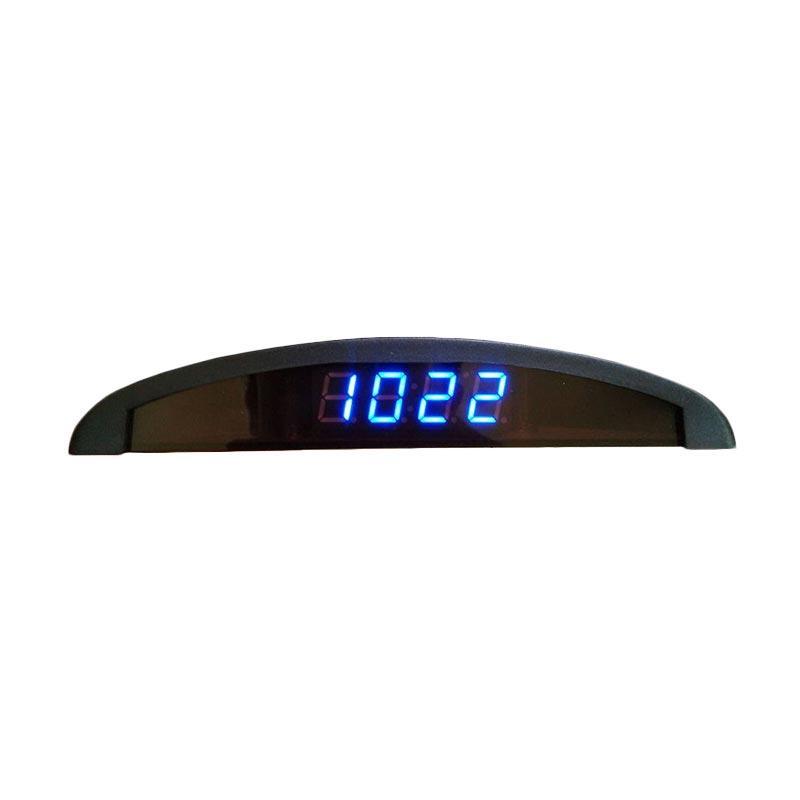 LED Jam Digital 4 in 1 untuk Mobil [Tanggal/Volt/Indikator Suhu]