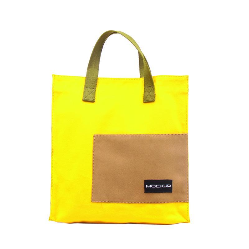 Mockup BGO.11 Mini Tote Bag Tas Unisex - Yellow