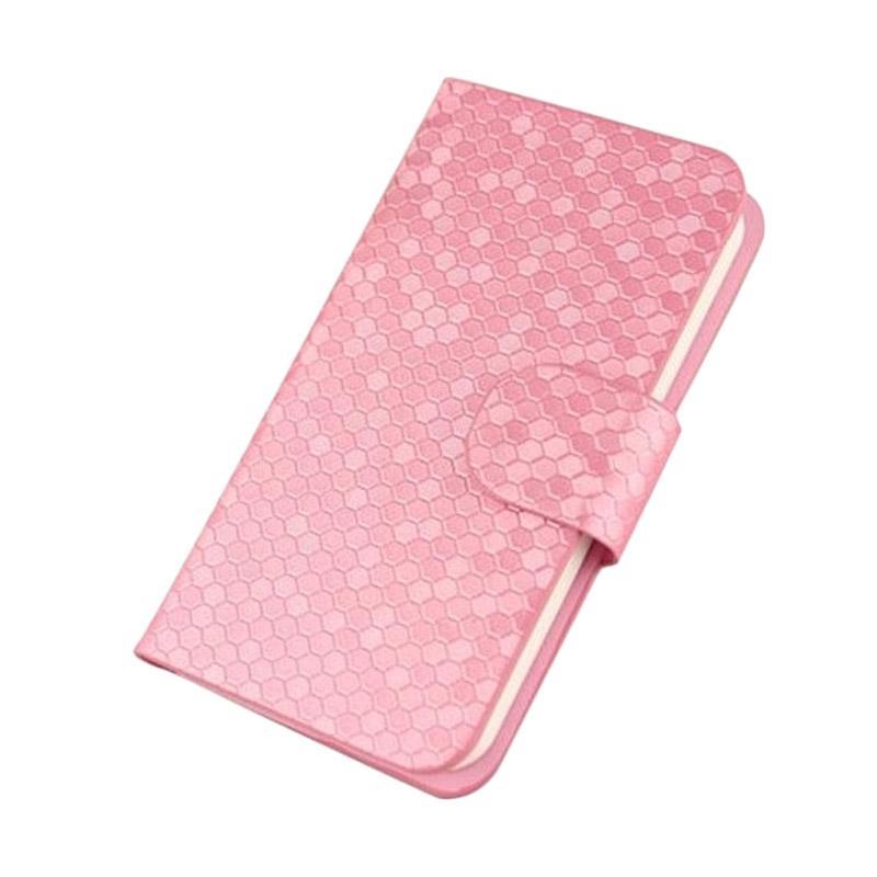 OEM Case Glitz Cover Casing for Coolpad 7231 - Merah Muda
