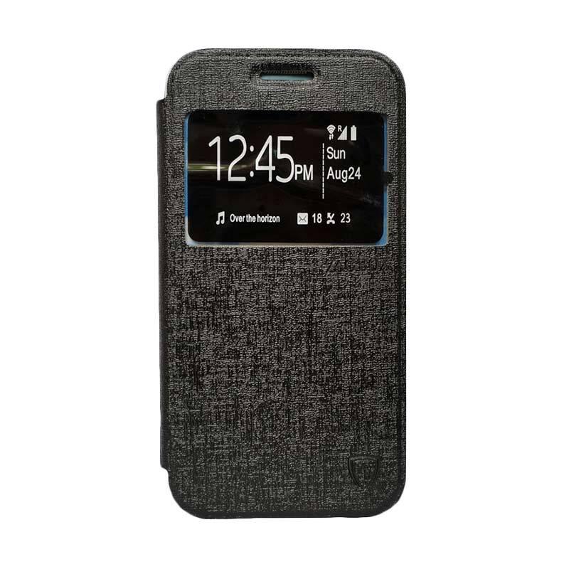 Zagbox Flip Cover Casing for Sony Xperia Z3 Mini - Hitam