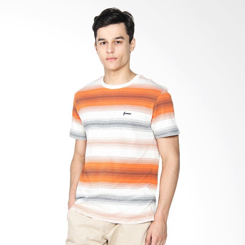 Hammer Stripe T-shirt Kaos Pria - Off White Orange B1TS142W1