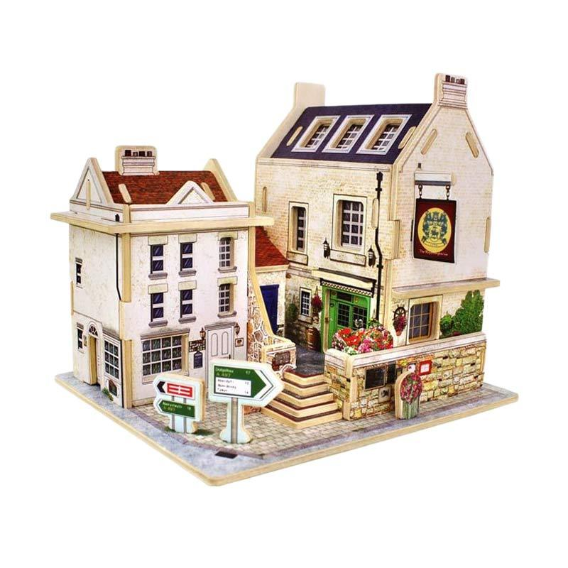 Robo F133 British Pub Mainan Blok and Puzzle
