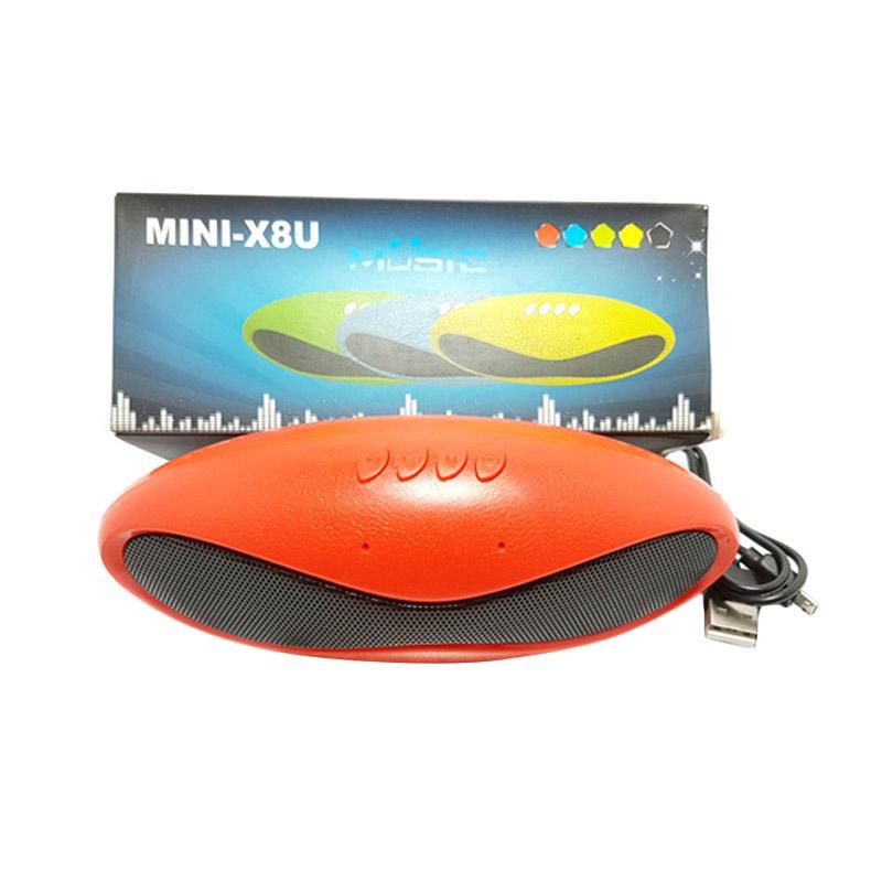 Solidex X-8U Oval Pernist Bluethooth Speaker - Merah