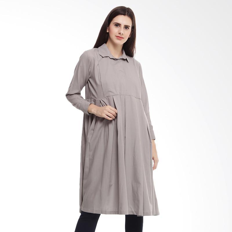 harga Shadrins Nursingstyle Nima Maternity Top Tunik Long Sleeve Baju Menyusui ? Grey Blibli.com