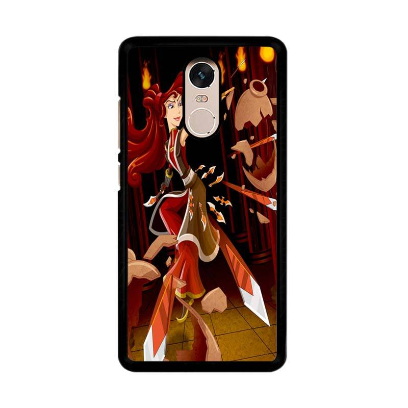 Flazzstore Megara Disney Z0520 Custom Casing for Xiaomi Redmi Note 4 or Note 4X Snapdragon Mediatek