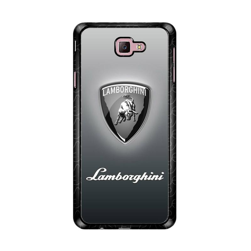 Flazzstore Lamborghini Logo Z4786 Custom Casing for Samsung Galaxy J7 Prime