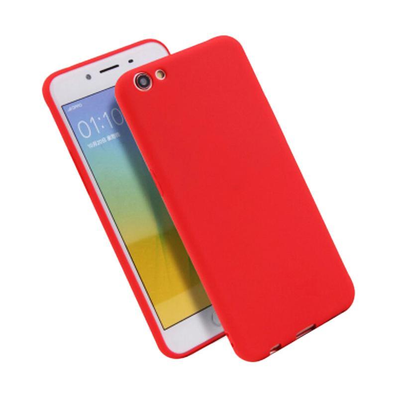 Lize Design Slim Anti Glare Silikon Casing for VIVO Y53 2017 - Merah