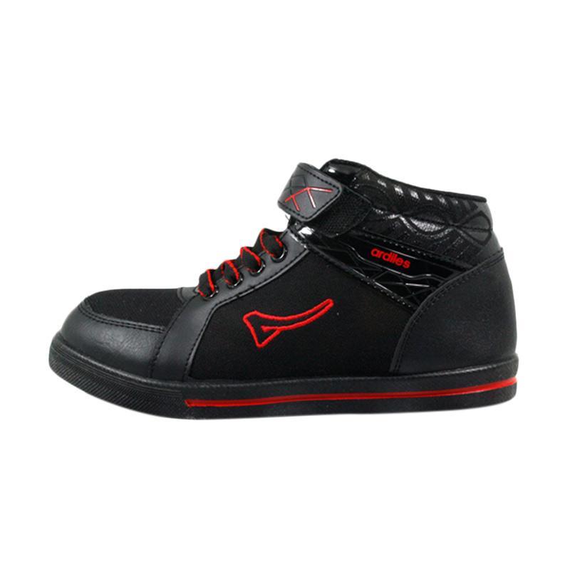 harga Ardiles Muse Sepatu Sekolah Anak - Hitam Merah Blibli.com