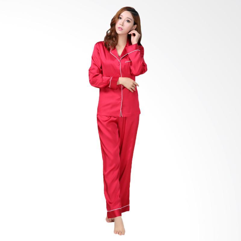 harga JCFASHION PP Satin Jepang Setelan Piyama - Merah Blibli.com