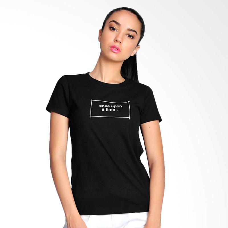 SJO & SIMPAPLY Once Upon A Time T-Shirt Atasan Wanita - Black