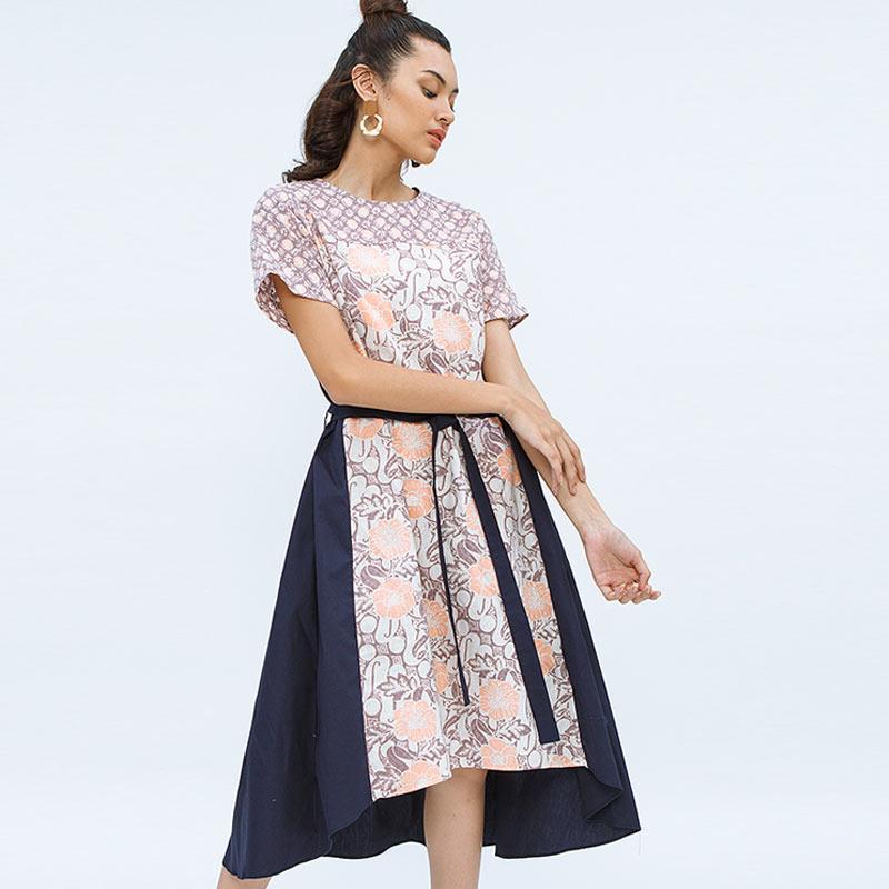 Cottonink Gema Dress Batik Wanita Purple