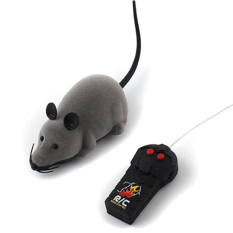 EDS Mouse Wireless Remote Control Mouse Electronic Cat Toy for Kids Grey